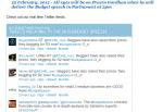 2012 budget speech twitter feed