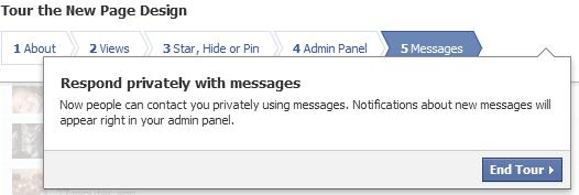 facebook timeline for pages private messages,  direct messages
